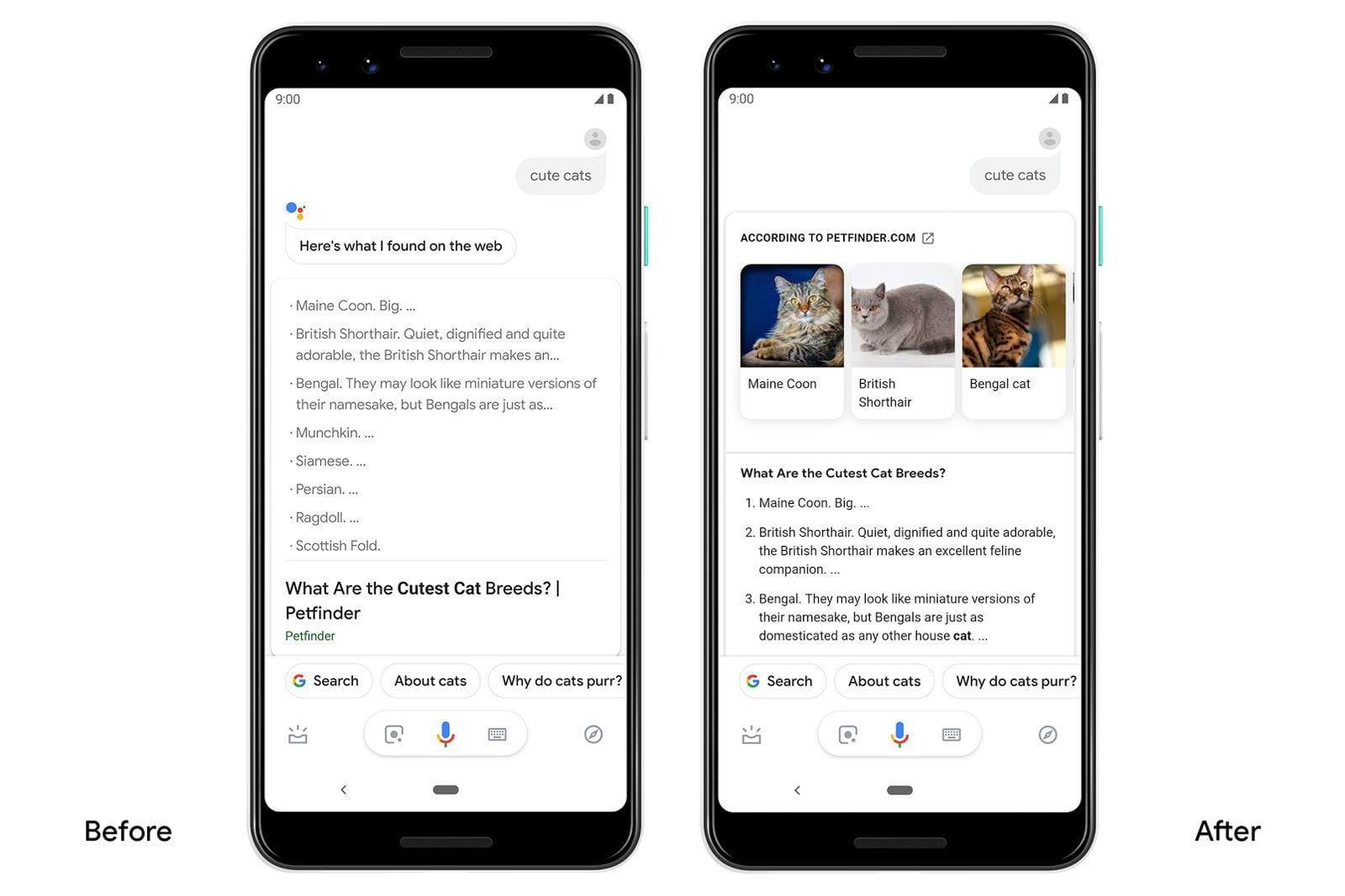 Google Assistant предлагает более живые результаты поиска на Android (dims)