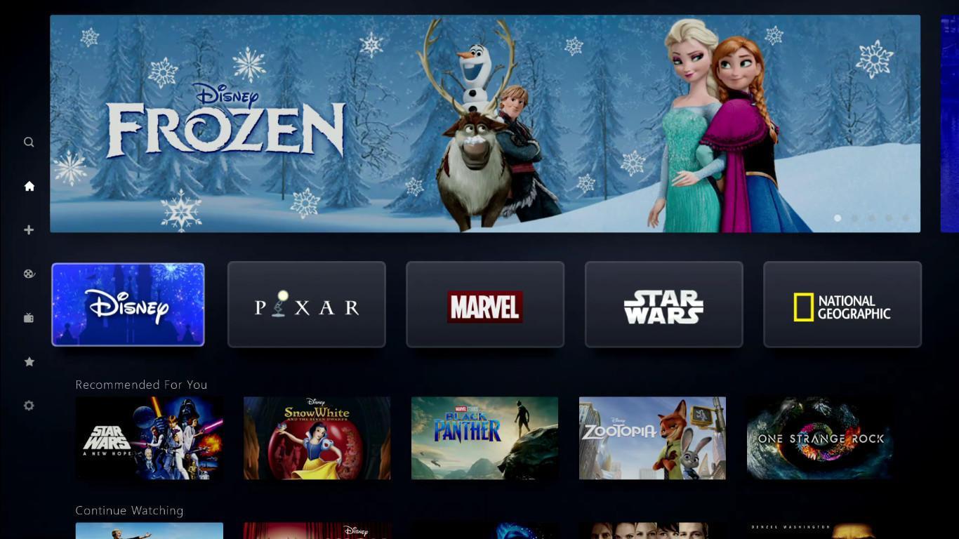 Disney+: всё, что вам нужно знать о новом потоковом сервисе Disney (disney plus investor day screenshots home 5llo)