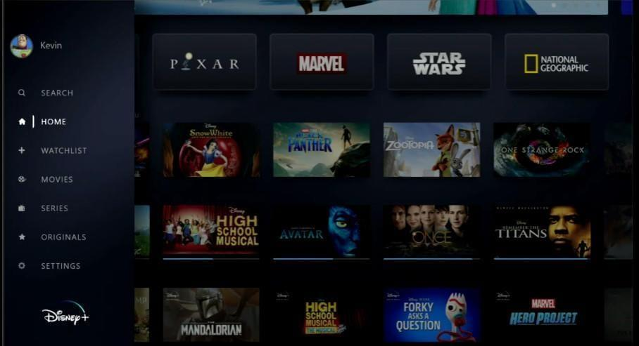 Disney+: всё, что вам нужно знать о новом потоковом сервисе Disney (disney plus investor day screenshots menu 1tgr)