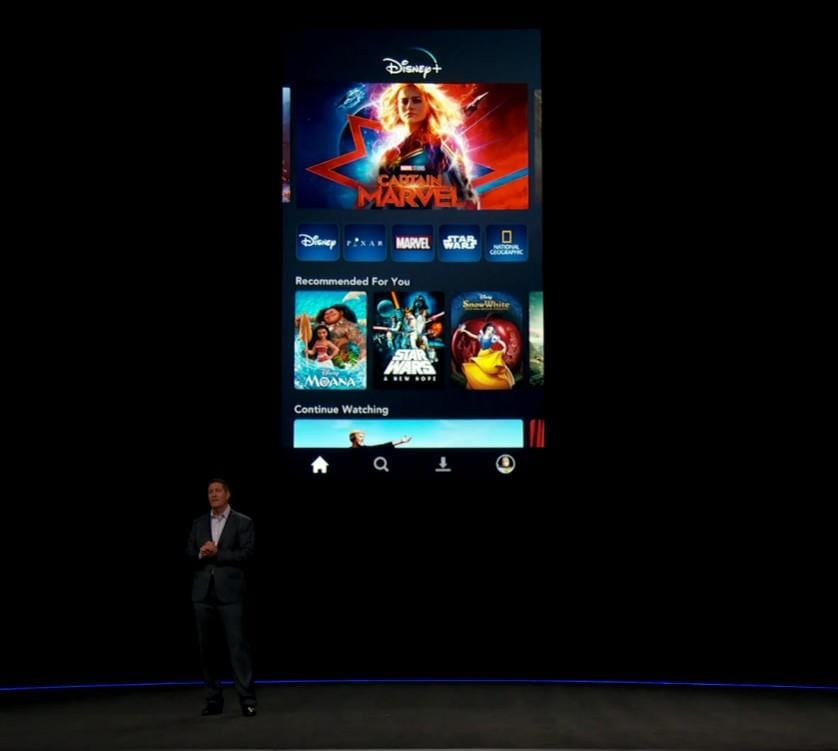 Disney+: всё, что вам нужно знать о новом потоковом сервисе Disney (disney plus investor day screenshots phone layout 1ip9)