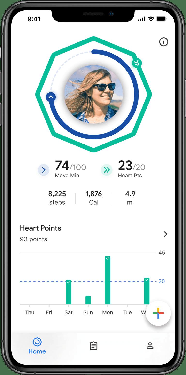 Google выпустила Google Fit для iOS (google fit on ios home page)