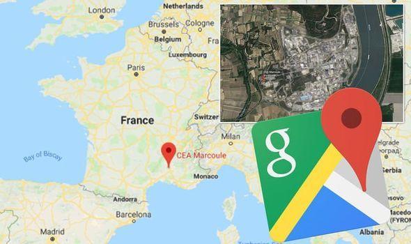 В Google Maps может появиться реклама (google maps earth france marcoule nuclear site hidden blurred photo 1098635)