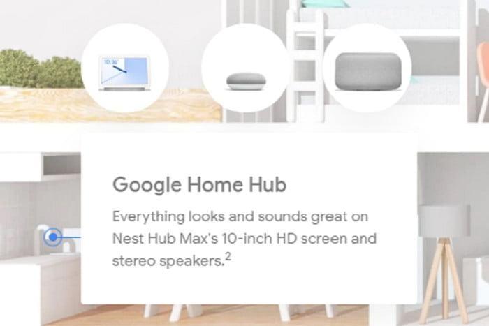 Google случайно рассекретила Nest Hub Max с 10-дюймовым экраном и встроенной камерой (google nest hub max 1 700x467 c)