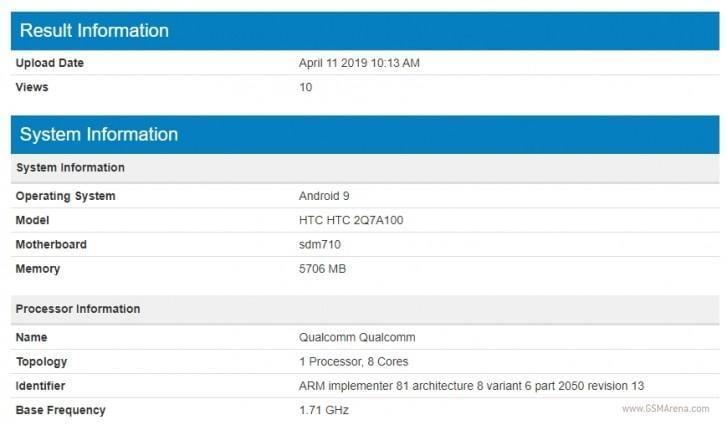Новый бюджетный смартфон HTC засветился в Geekbench со Snapdragon 710 и 6 ГБ ОЗУ (gsmarena 002 1 1)