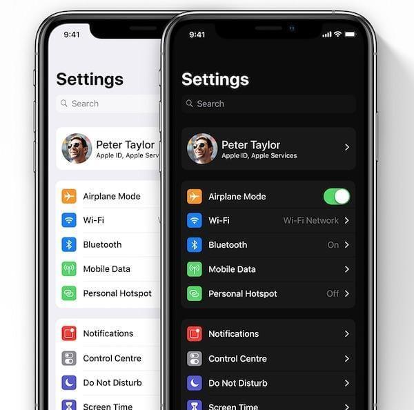В iOS 13 появится темный режим, переработанный индикатор громкости, улучшенная многозадачность для iPad и многое другое (ios 13 dark mode concept)