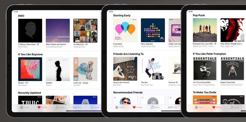 """Apple сделает раздел Apple Music """"Для вас"""" еще более персонализированным (ipad pro apple music for you)"""