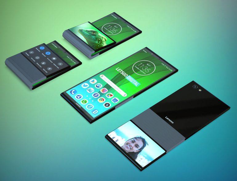 Lenovo готовит складной смартфон со вторым дисплеем (lenovo mobiele telefoon)