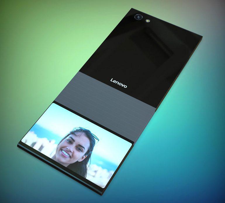 Lenovo готовит складной смартфон со вторым дисплеем (lenovo smartphone)