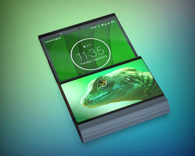 Lenovo готовит складной смартфон со вторым дисплеем (opvouwbare lenovo smartphone)