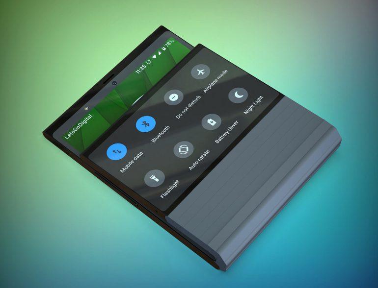 Lenovo готовит складной смартфон со вторым дисплеем (opvouwbare smartphones)