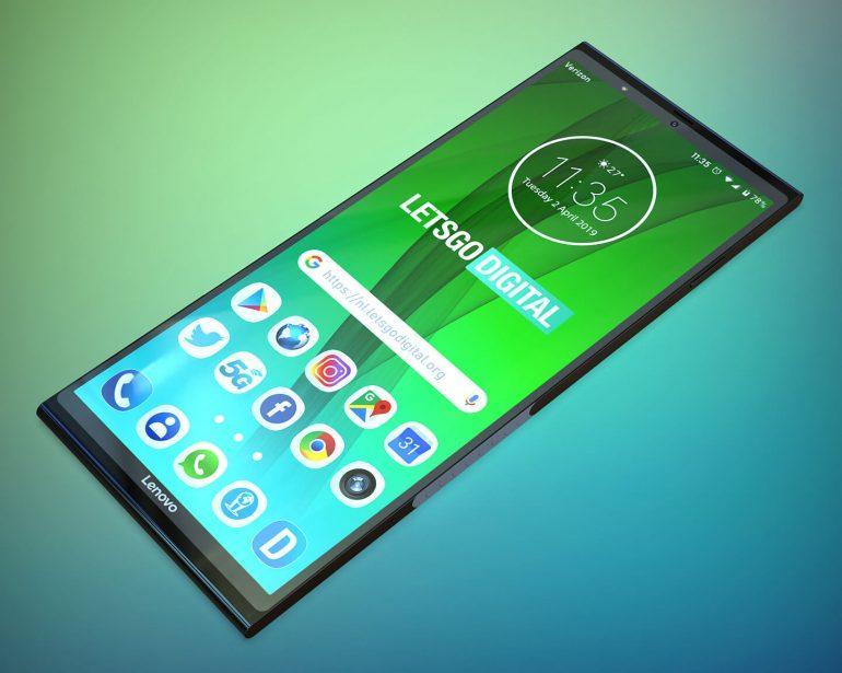 Lenovo готовит складной смартфон со вторым дисплеем (opvouwbare telefoon lenovo)