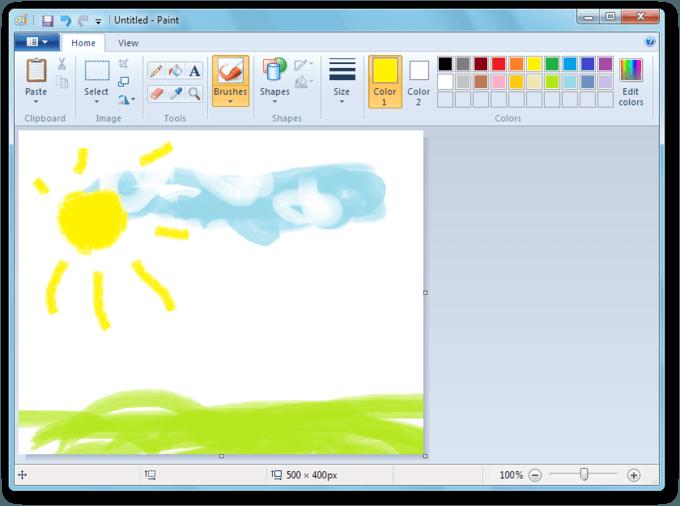 Microsoft передумала убирать MS Paint из Windows 10 (paint 7)