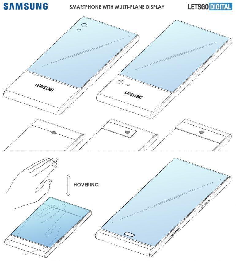 Патент Samsung демонстрирует смартфон с тремя экранами (samsung smartphone display)