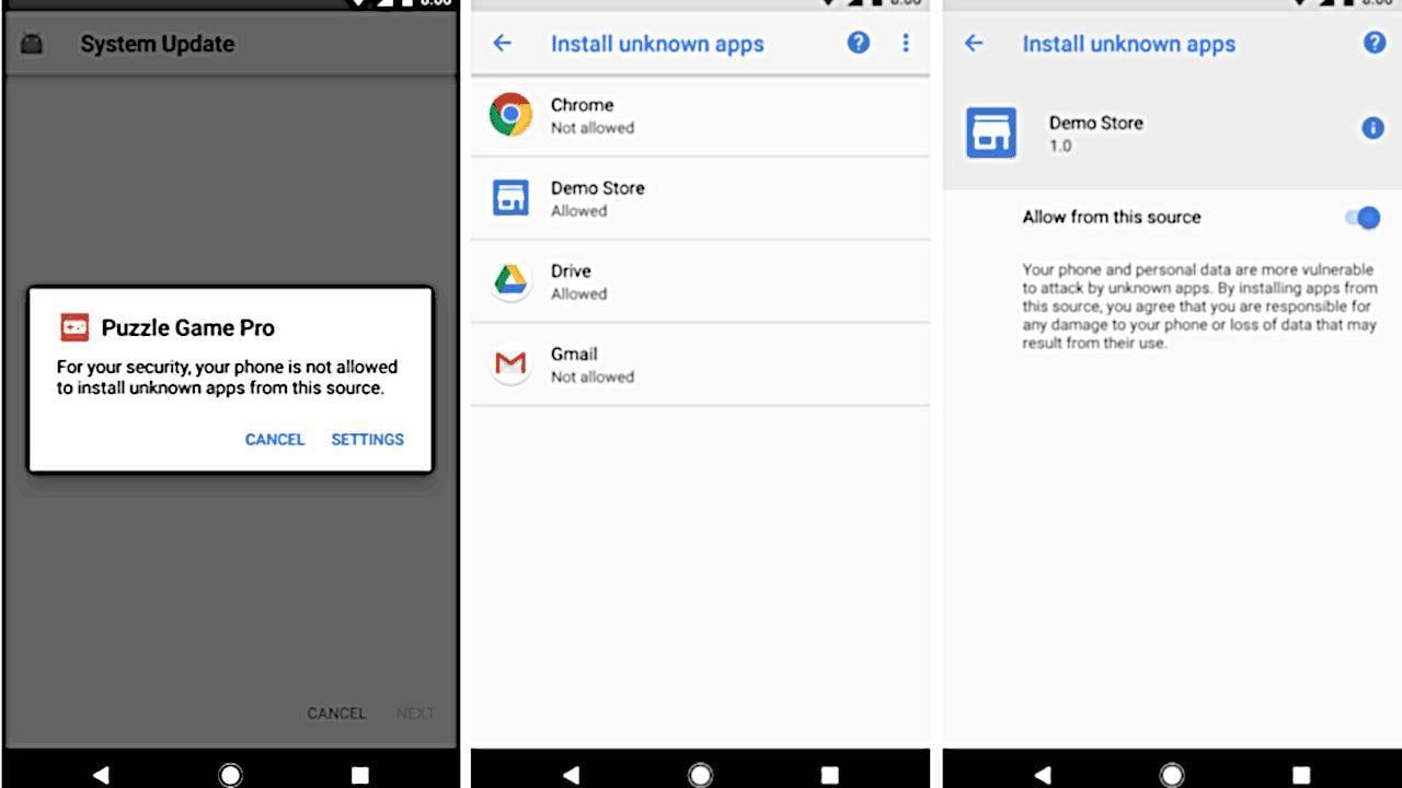 Android Q сделает установку непроверенных приложений более безопасной (unknown)