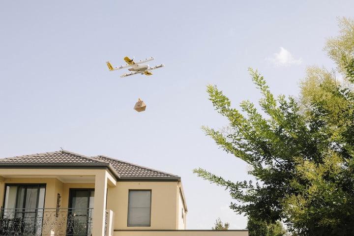 В Австралии дроны будут доставлять товары на дом (wing drone delivery)