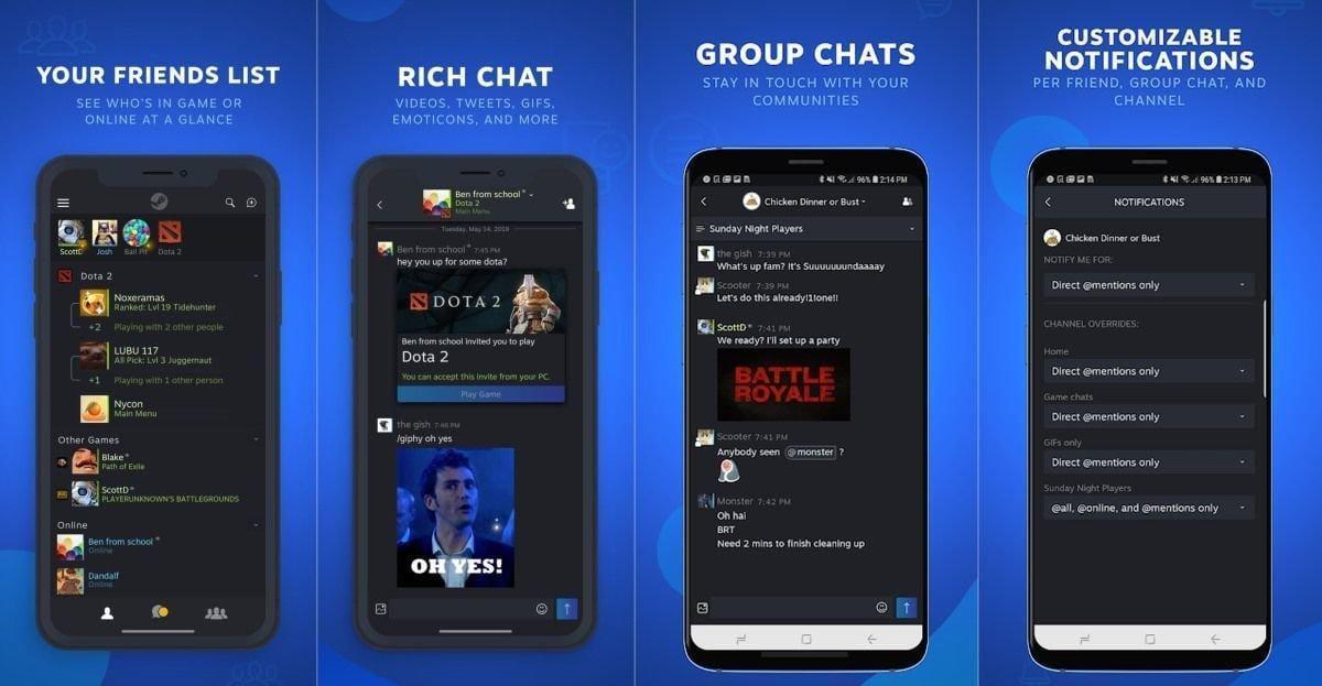Valve выпустила отдельный чат Steam Chat для Android и iOS (dims 1)