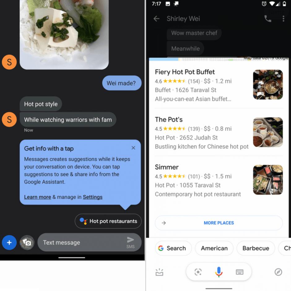 Приложение Google Messages получило интеграцию с Google Assistant (gam)