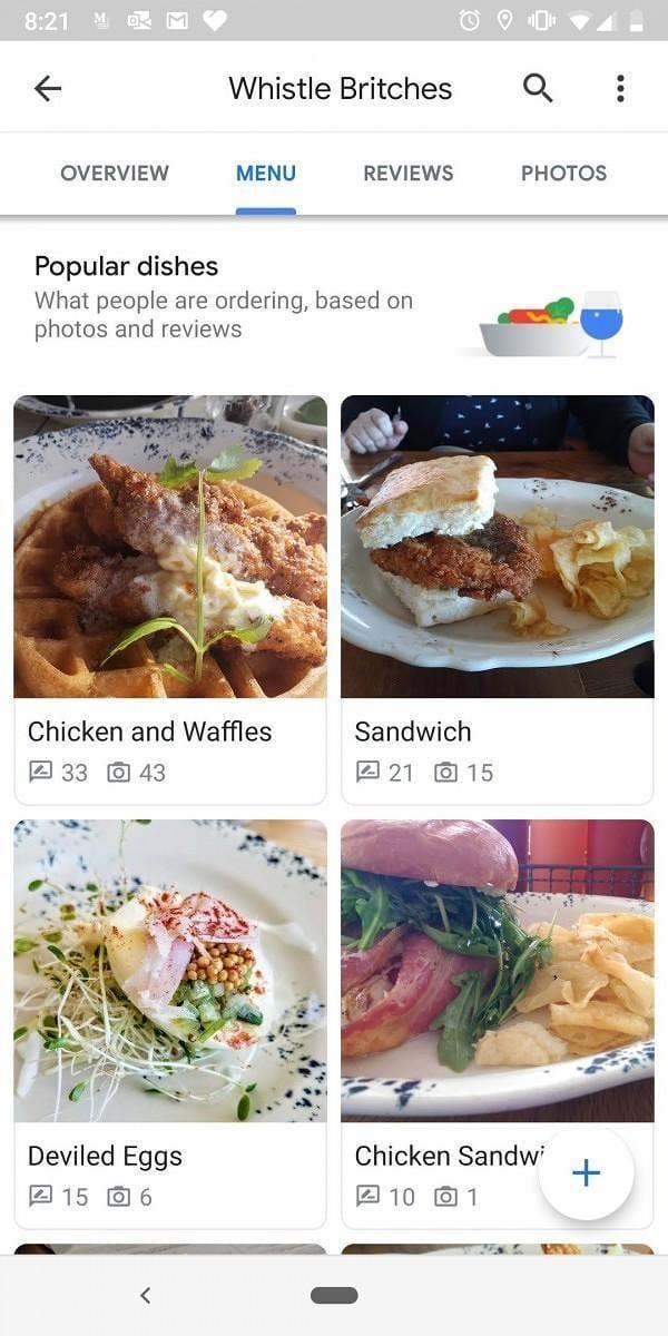 """Google Maps"" тестирует краудсорсинговое меню для кафе и ресторанов (google maps favourite dish)"