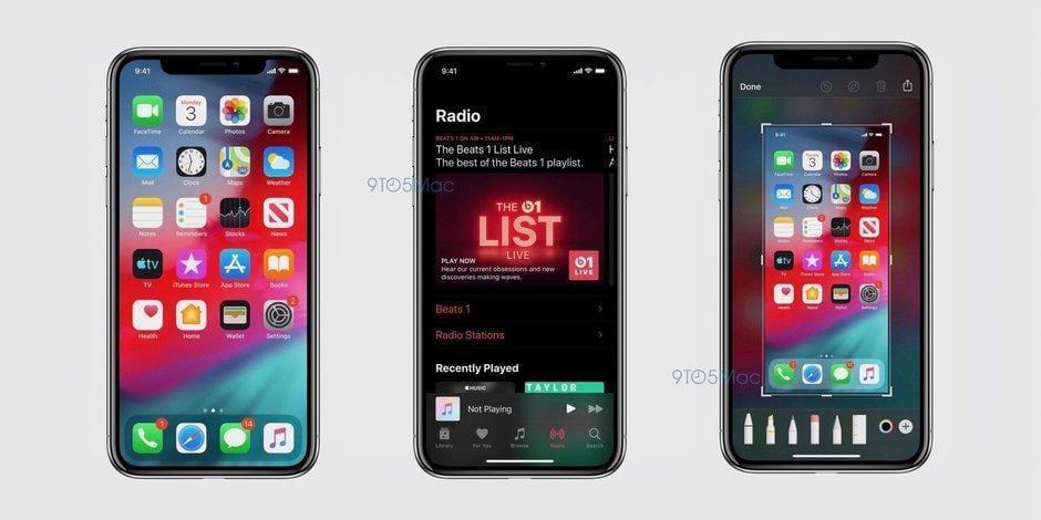 Утечка: Cкриншоты iOS 13 демонстрируют темный режим и обновленные приложения (ios 13 screenshot dark mode)