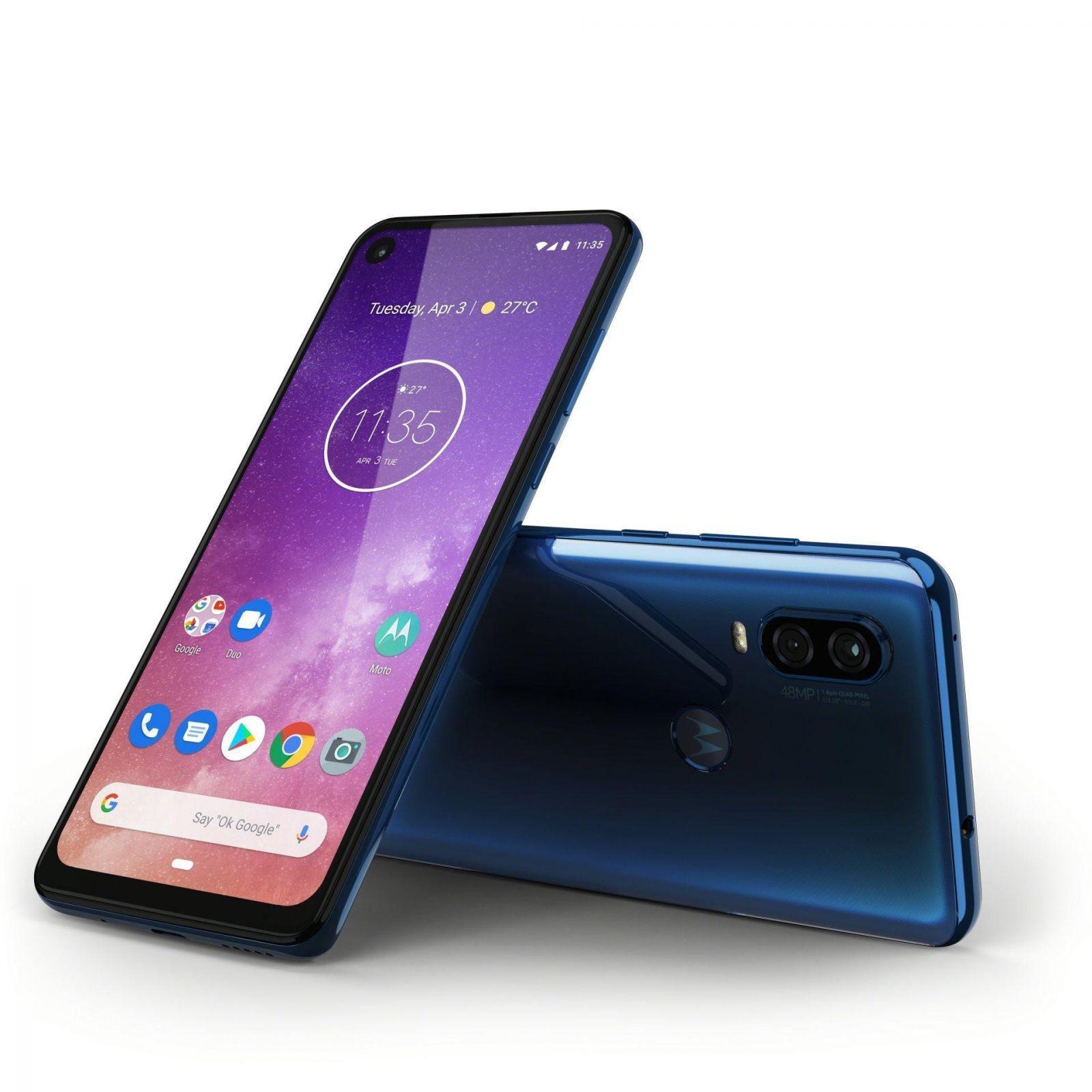 Motorola представила новый смартфон Motorola One Vision (motorola one vision row saphire gradient laydown combo)