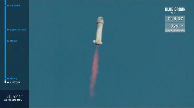 Испытательный полет космического корабля New Shepard от Blue Origin на фото (quqahjhzb57s5lltvmw6ti 650 80)