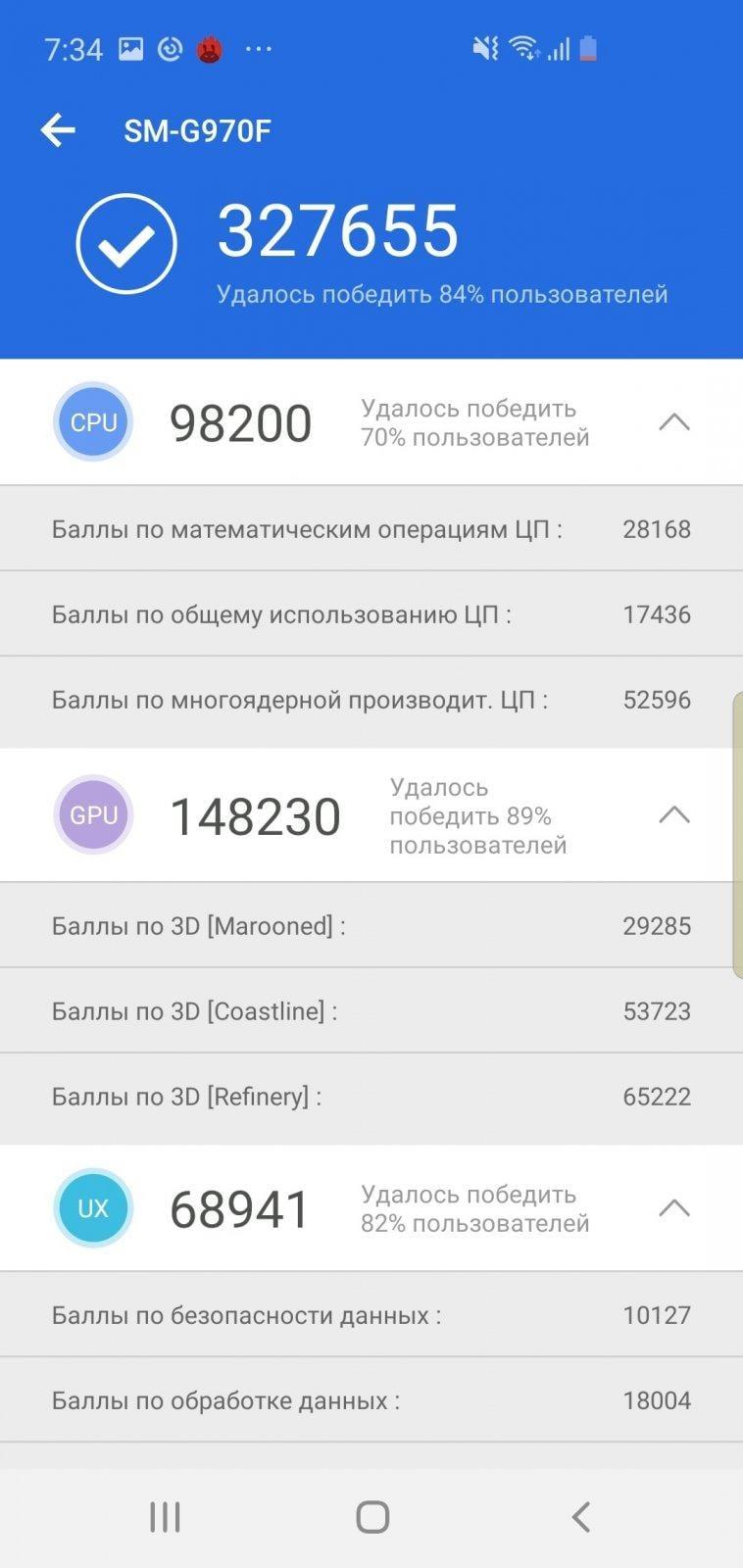 Обзор Samsung Galaxy S10e. Лучший компактный флагман (screenshot 20190417 073500 antutu benchmark)