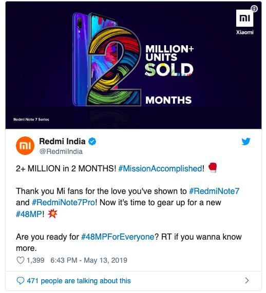 Продажи смартфонов Redmi Note 7 и Note 7 Pro в Индии достигли двух миллионов (snimok jekrana 2019 05 14 v 8.14.51)