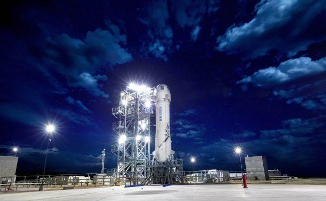 Испытательный полет космического корабля New Shepard от Blue Origin на фото (xjrvu4xaf28nwkufxsxspx 650 80)