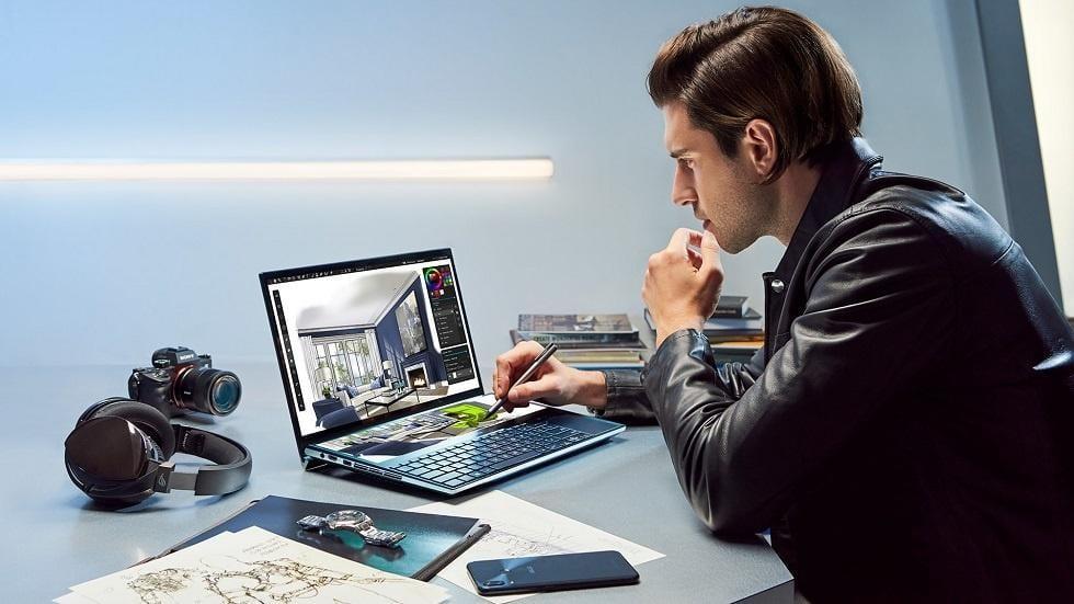 Asus представила ноутбук Asus ZenBook Pro с двумя 4K-экранами (zenbook pro duo prew)