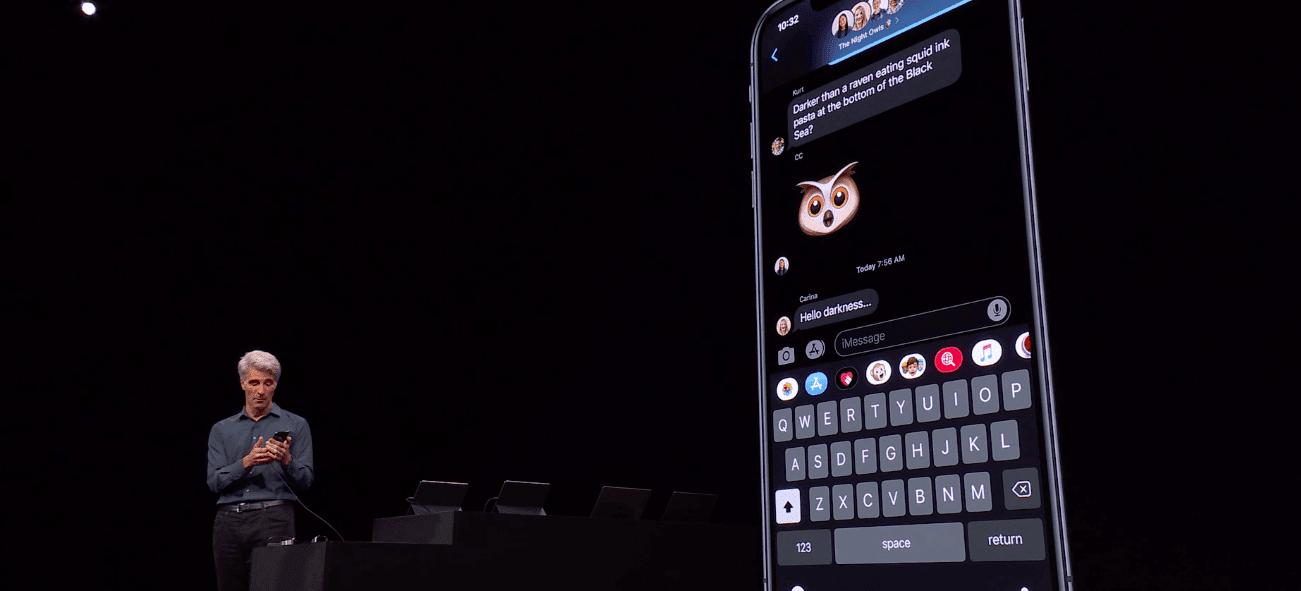 WWDC 2019. Apple представила iOS 13: Темный режим, улучшение производительности и многое другое (snimok jekrana 2019 06 04 v 0.33.16)