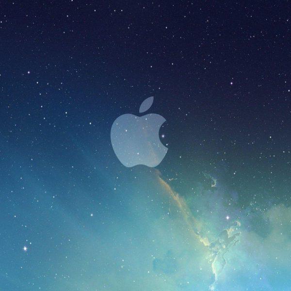 Apple выпускает третью бета-версию iOS 13 (apple logo galaxy wallpaper)
