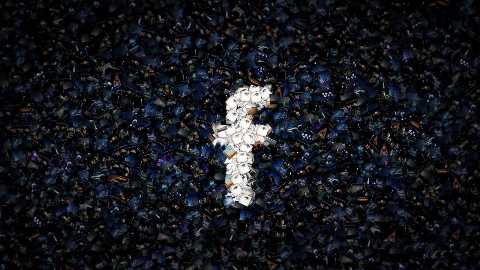 Facebook получил рекордный штраф на 5 миллиардов долларов (facebook digital art mosaic logo wallpaper)