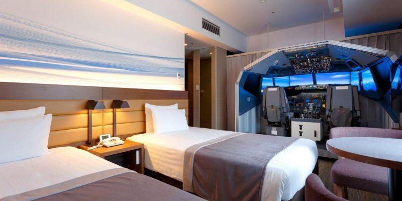 Японский отель поставил симулятор полётов в одну из своих комнат (ffsh7qvcscnur13mmcux)