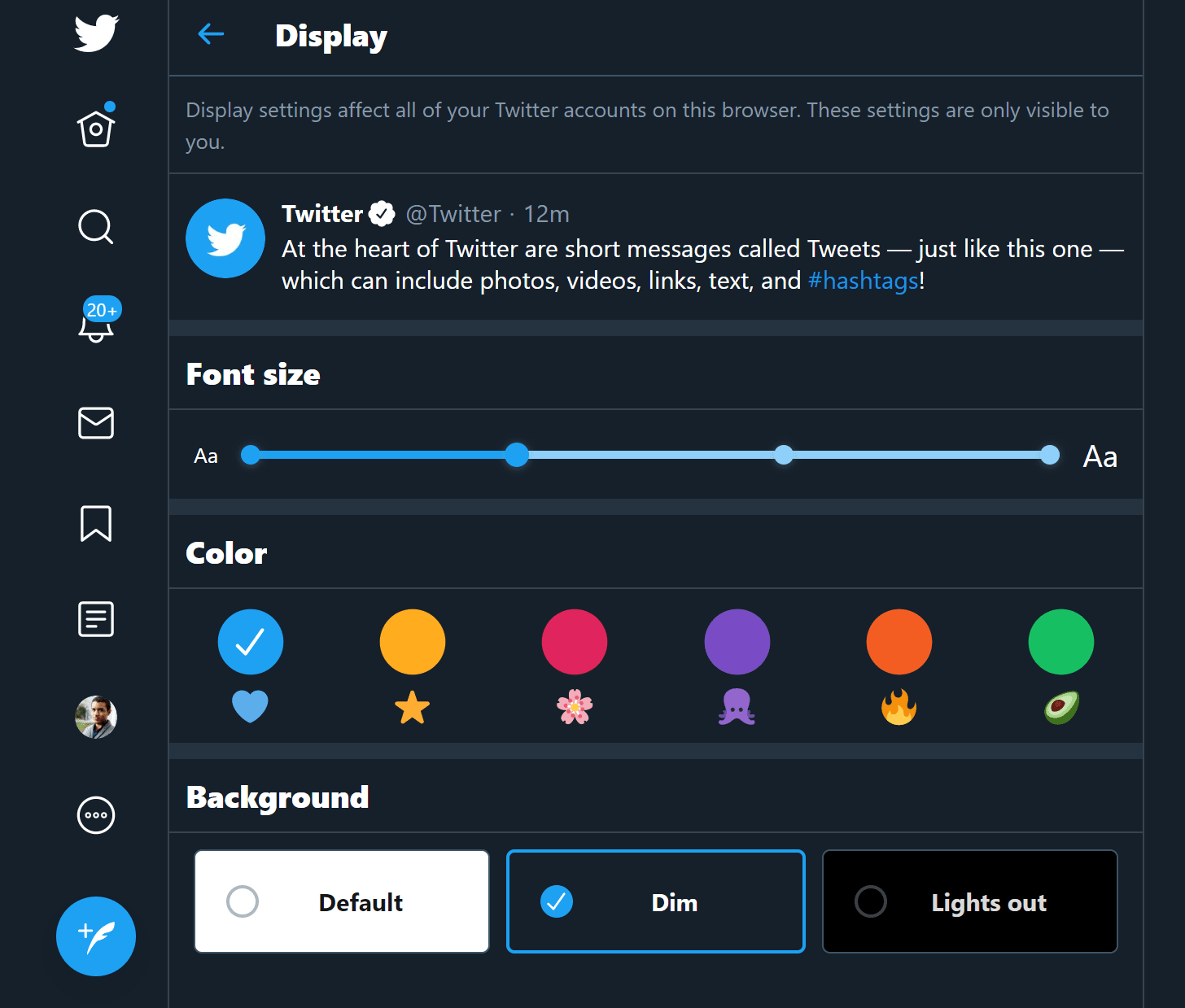 Twitter выпустил новый дизайн (snag 1edb3c1a)