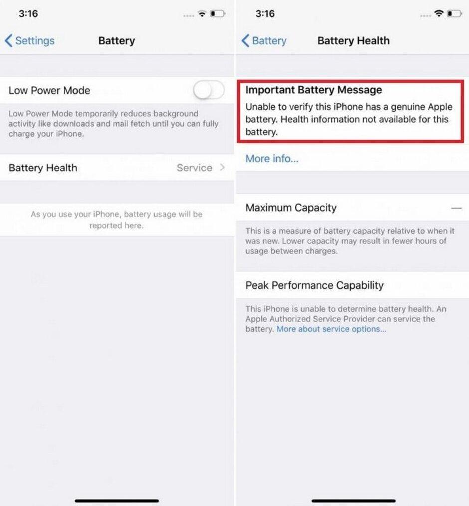 Apple предупредила пользователей iPhone о ремонте батарей (batt)