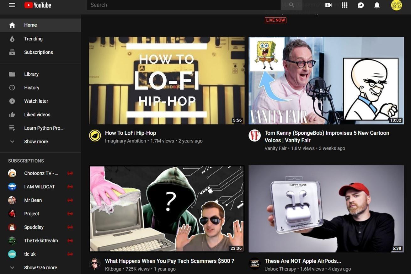 YouTube тестирует большие эскизы видеозаписей (reddit image.0)