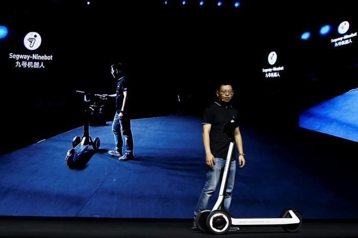 Китайцы представили самокат, который сам вернётся на зарядную станцию (samokat)