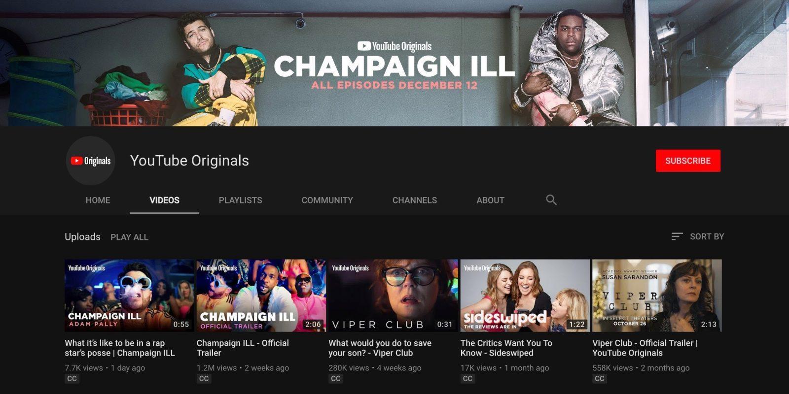 YouTube Originals станет доступен всем — бесплатно (youtube originals)