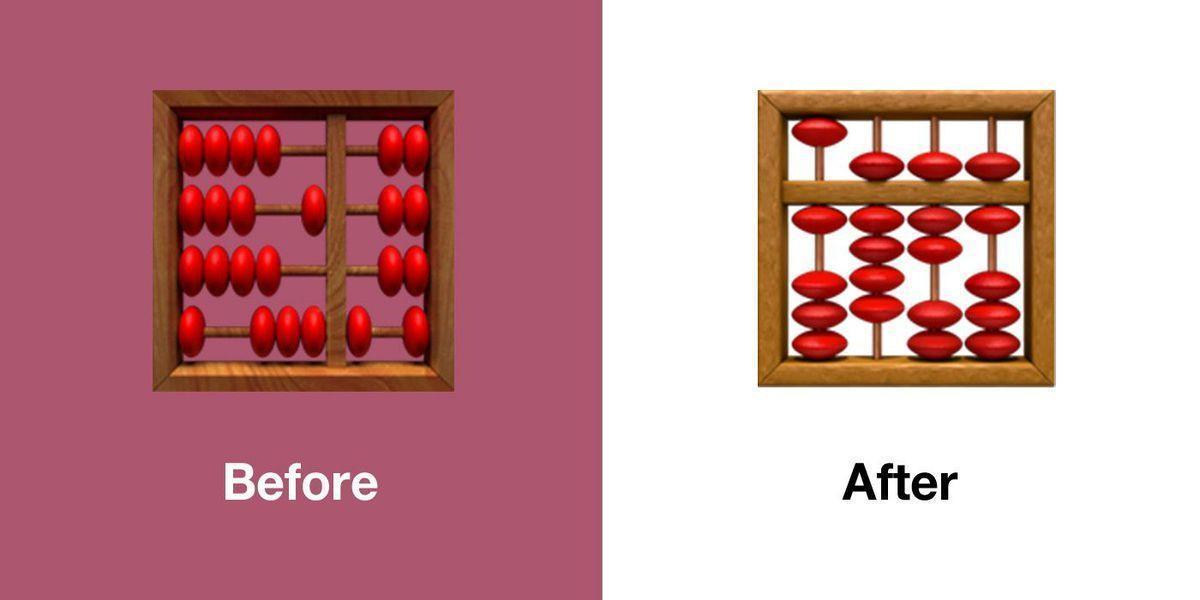 Вышла iOS 13.1 с исправленными смайлами (emojipedia apple ios 13.1 emoji changelog comparison abacus)