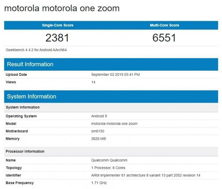 Motorola One Zoom прошел тестирование в Geekbench (gsmarena 002)