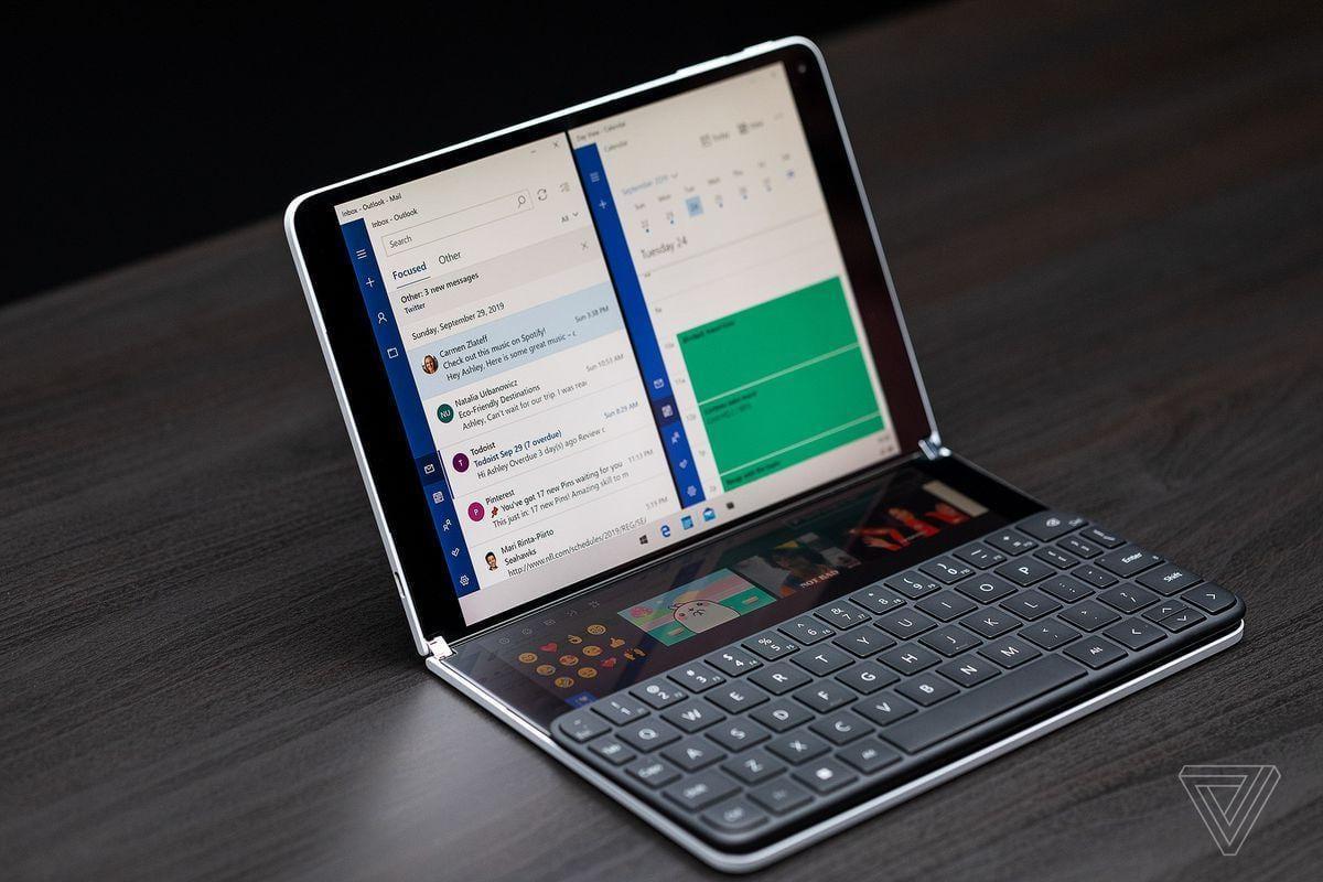Microsoft анонсировала двухэкранный ноутбук-планшет Surface Neo (akrales 190930 3649 0115)