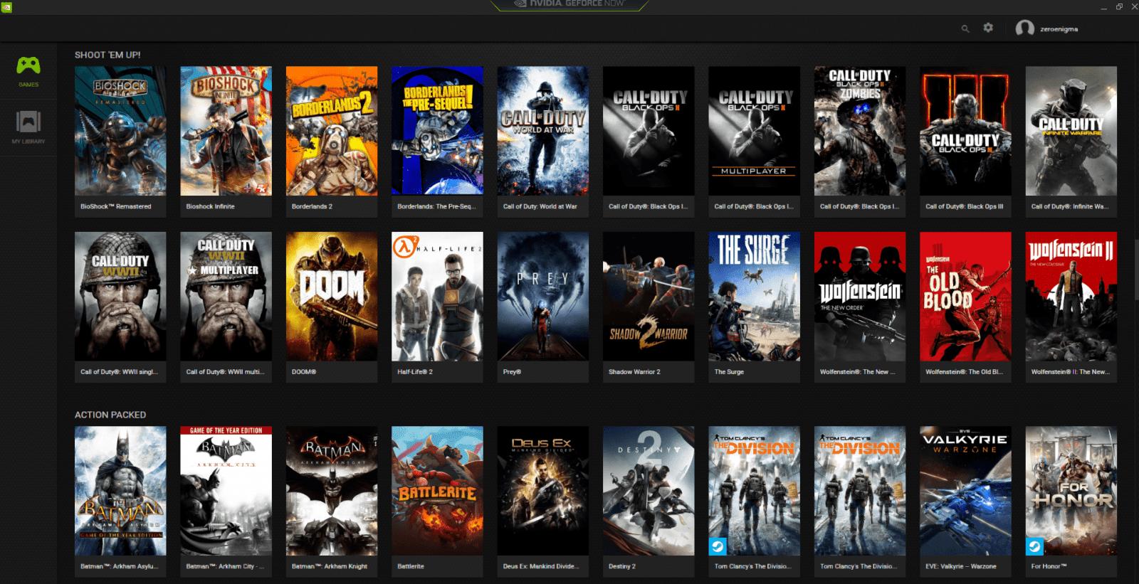 NVIDIA запустила игровой потоковый сервис GeForce Now в России (geforce now library)