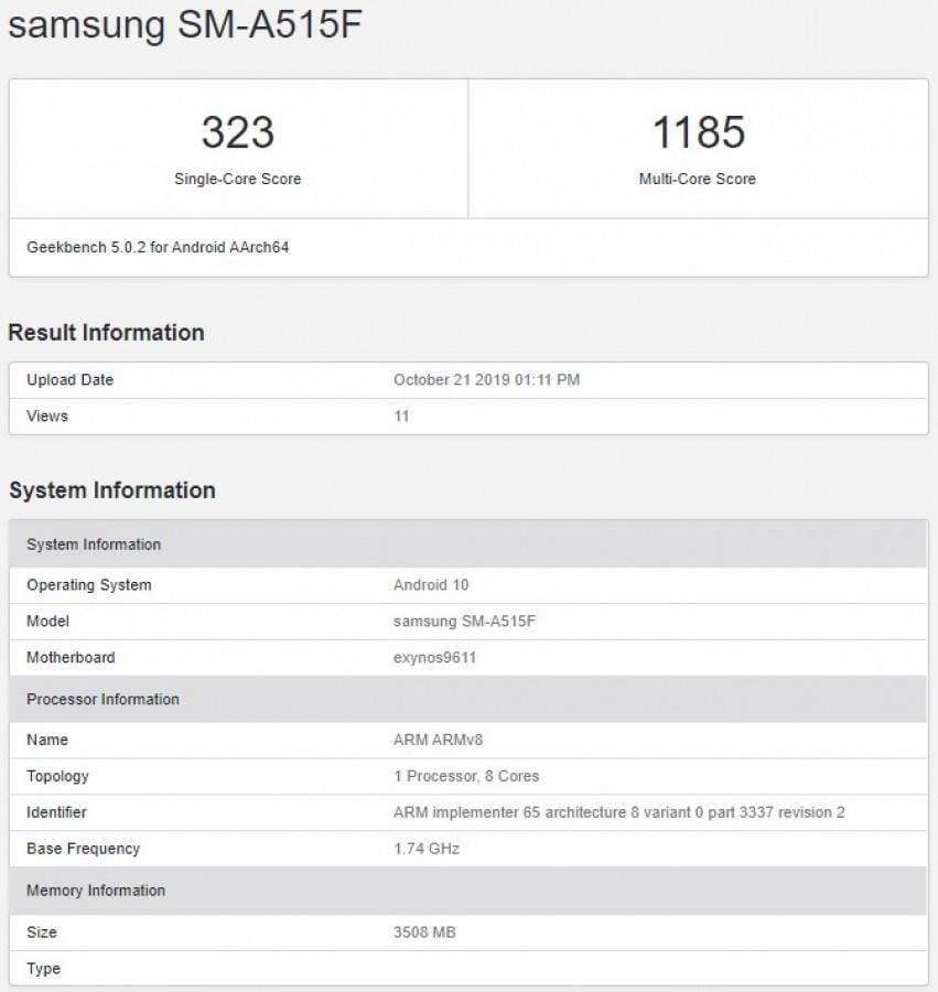 Стали известны характеристики смартфона Samsung Galaxy A51 (gsmarena 001 9)