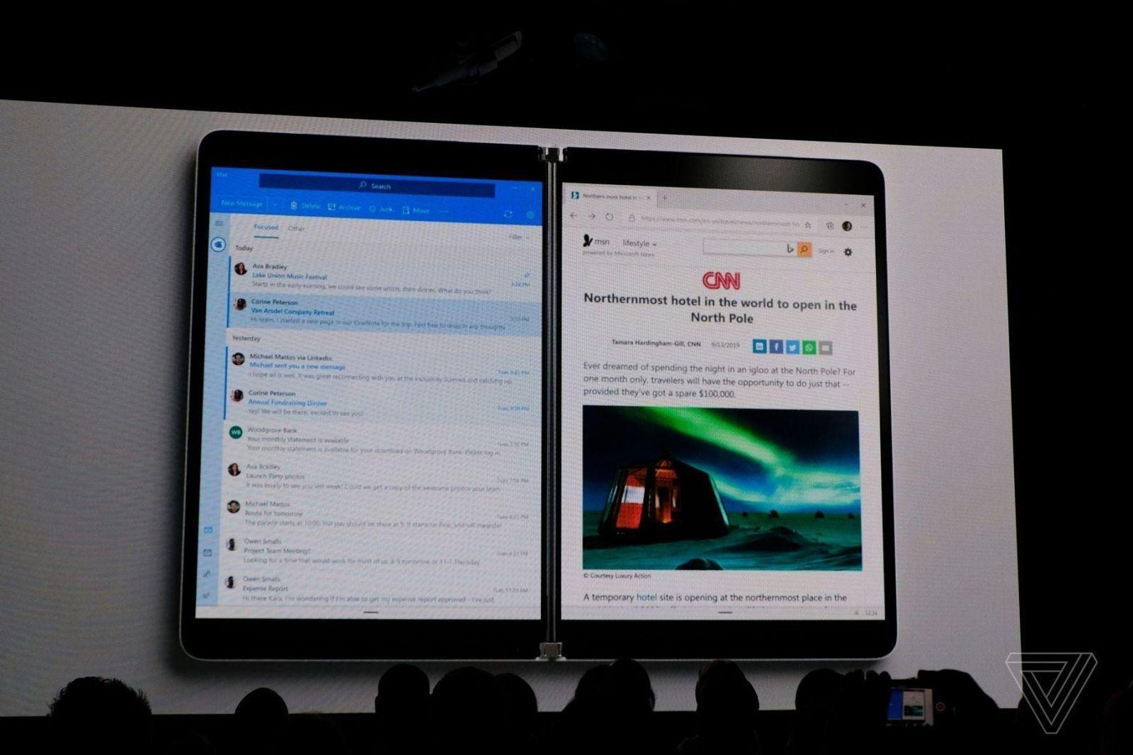 Microsoft анонсировала двухэкранный ноутбук-планшет Surface Neo (microsoft surface neo)