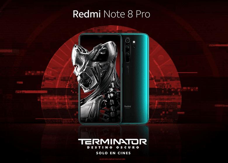 Xiaomi представила версию Redmi Note 8 Pro для фанатов Терминатора (redmi note 8 pro terminator dark fate edition featured)