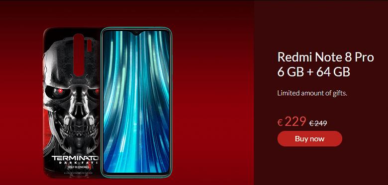 Xiaomi представила версию Redmi Note 8 Pro для фанатов Терминатора (redmi note 8 pro terminator dark fate edition large)