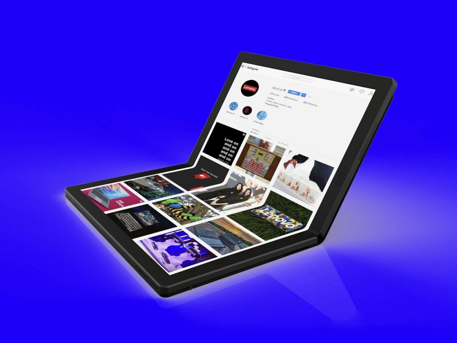 Lenovo выпустит ноутбук ThinkPad X1 с гибким экраном и без клавиатуры (0000 11)