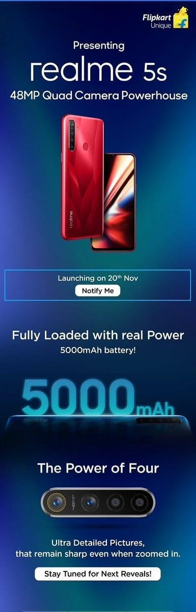 Realme опубликовала официальный тизер смартфона Realme 5s (2019 11 15 10 27 43)