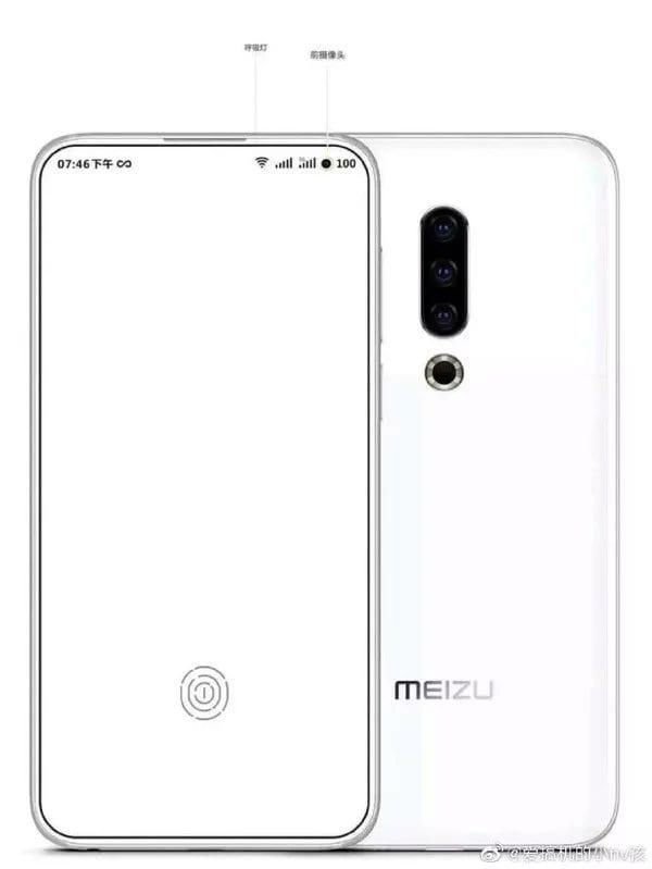Опубликован новый рендер смартфона Meizu 17. Всё внимание на селфи-камеру (2019 11 19 09 26 08)