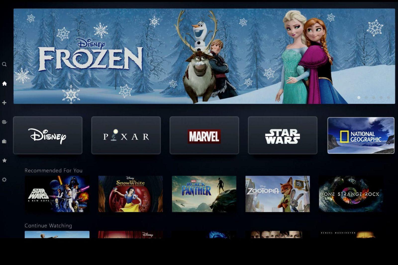 """Disney запустил свою стриминговую платформу с сериалами во вселенной """"Звёздых войн"""" и не только (disney plus tv home window edit jpg)"""